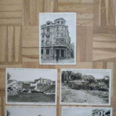 Militaria: 5 FOTOGRAFIAS OVIEDO CIUDAD MARTIR INVICTA E INVENCIBLE. GUERRA CIVIL 1936 1937. CIRCO IMPERIAL VER. Lote 235020570