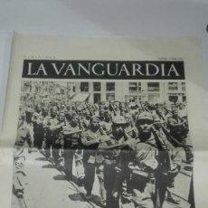 Militaria: LA VANGUARDIA. REPUBLICA. SOLDADOS DE LA REPUBLICA. 4 PAGINAS. 17 DE JULIO DE 1937. Lote 235382945