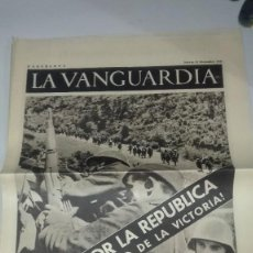 Militaria: LA VANGUARDIA. REPUBLICA. TERUEL, POR LA REPUBLICA. 4 PAGINAS. 23 DE DICIEMBRE DE 1937. Lote 235383895