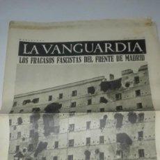 Militaria: LA VANGUARDIA. REPUBLICA. GRAFICOS DEL FRENTE DE MADRID. 4 PAGINAS. 4 DE FEBRERO DE DE 1937. Lote 235386755