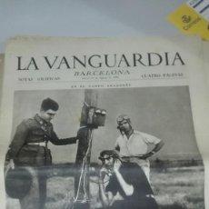 Militaria: LA VANGUARDIA. SARIÑENA, CARTAGENA, SAN SEBASTIAN, HUESCA. 4 PAGINAS. 13 DE AGOSTO DE 1936. Lote 235495210
