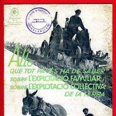 Militaria: REVISTA GUERRA CIVIL ALLO 1937 EN CATALAN EXPLOTACION FAMILIAR GENERALITAT CATALUNYA ORIGINAL. Lote 235506575