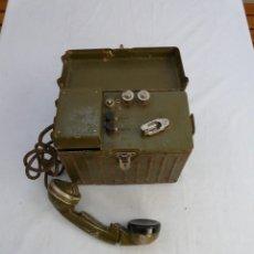 Militaria: TELEFONO BELGA DE CAMPAÑA - GUERRA CIVIL - BRIGADAS INTERNACIONALES. Lote 235969205