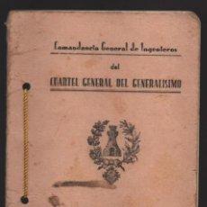Militaria: CUARTEL GENERAL DEL GENERALISIMO.- FORTIFICACION DE CAMPAÑA- VER FOTO. Lote 262343985