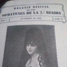 Militaria: SOMATENES DE LA 7* REGIÓN 1928. Lote 242225405