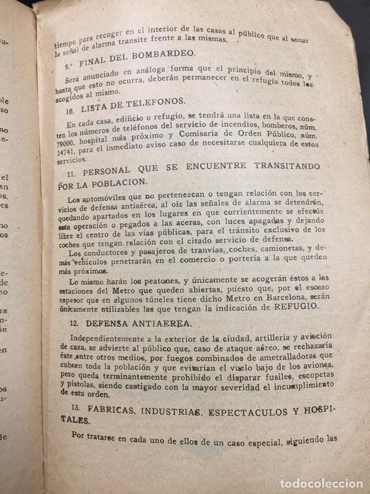 Militaria: Bombardeos, aéreos, marítimos, químicos, panfleto Guerra Civil, medios para defenserse. 23x15,5cm - Foto 7 - 148748486