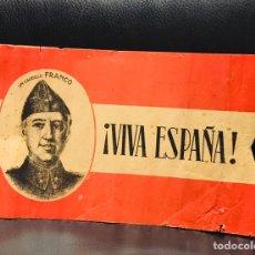 Militaria: ANTIGUA BANDERA ESPAÑOLA FRANQUISTA,FRANCO,CAUDILLO,FALANGE DE PAPEL,GUERRA CIVIL 1936. Lote 242895405