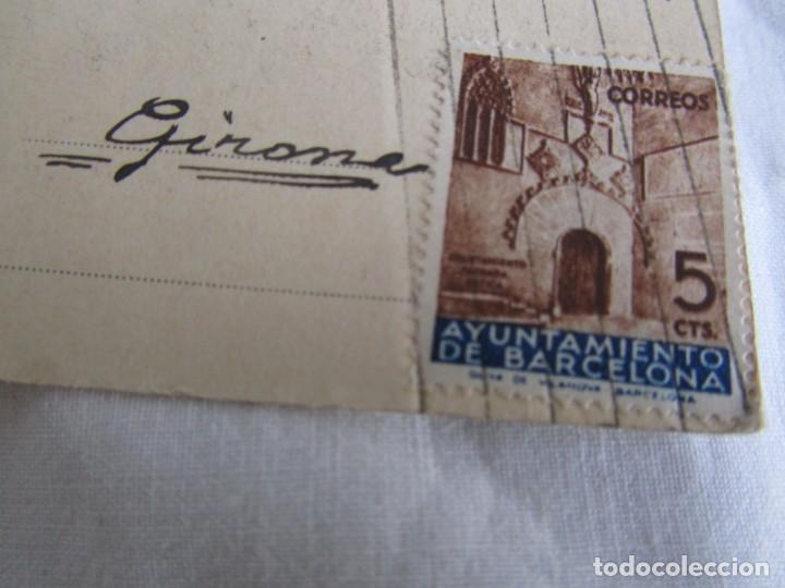Militaria: Tarjeta postal Asociación de amigos de la Unión Soviética 1937, Guerra Civil, Gerona - Foto 4 - 243851320
