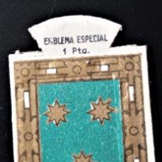 Militaria: EMBLEMA AUXILIO SOCIAL ESPECIAL HERALDICO 1 PTA ORIBE PALACIO. Lote 243887415