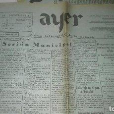 Militaria: BARCELONA EN SITUACION CAOTICA . 23 DE OCT DE 1936. PERIODIO AYER. JEREZ DE LA FRONTERA.GUERRA CIVIL. Lote 244899945