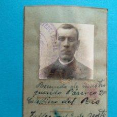 Militaria: RECORDATORIO MUERTE PARROCO, ZARAGOZA, AÑO 1937.. Lote 245004440