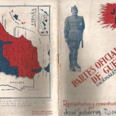 Militaria: JULIO 1936 PARTES OFICIALES DE GUERRA NACIONALES Y ROJOS Nº 1 UNION RADIO MADRID MBE. Lote 246123795