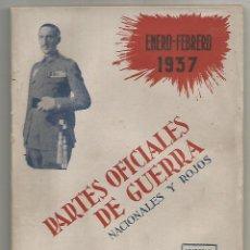 Militaria: PARTES OFICIALES DE GUERRA NACIONALES ROJOS Nº VII DOBLE ENERO FEBRERO 1937 ED CAMARASA MADRID 1942. Lote 246232395