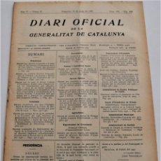 Militaria: DIARI OFICIAL DE LA GENERALITAT DE CATALUNYA - 12 MAYO 1937 - GIRONA, LLORET DE MAR (CAMBIO CALLES). Lote 246284650