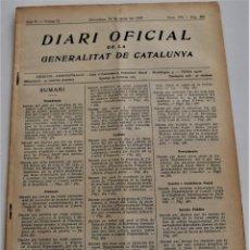 Militaria: DIARI OFICIAL DE LA GENERALITAT DE CATALUNYA - 14 MAYO 1937 - OLOT. Lote 246286645