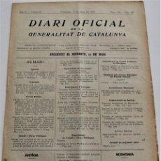 Militaria: DIARI OFICIAL DE LA GENERALITAT DE CATALUNYA - 16 MAYO 1937 - EMPRESAS COLECTIVIZADAS BARCELONA. Lote 246323650
