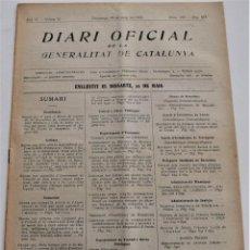 Militaria: DIARI OFICIAL DE LA GENERALITAT DE CATALUNYA - 23 MAYO 1937 - ESTADÍSTICAS LLEIDA Y TARRAGONA. Lote 246501145