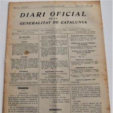Militaria: DIARI OFICIAL DE LA GENERALITAT DE CATALUNYA - 26 MAYO 1937, LLORIANA, MANRESA, OLESA, ARMENTERA. Lote 246690015