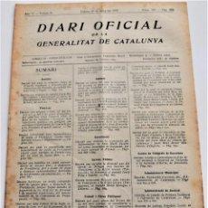 Militaria: DIARI OFICIAL DE LA GENERALITAT DE CATALUNYA - 27 MAYO 1937, CASTELLET, FAR, BARCELONA, MANRESA. Lote 246691410