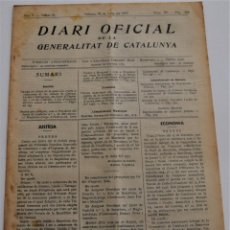 Militaria: DIARI OFICIAL GENERALITAT DE CATALUNYA - 31 MAYO 1937 - BADALONA. Lote 246695475