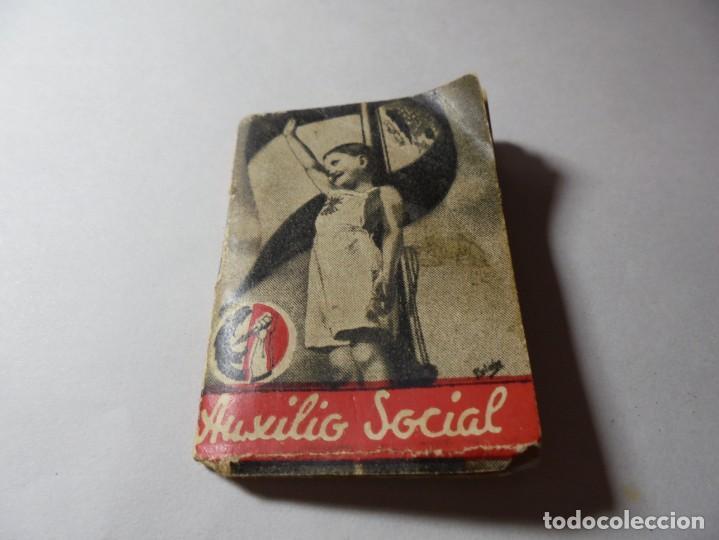 MAGNIFICO ANTIGUO LIBRILLO AUXILIO SOCIAL DECRETO (Militar - Guerra Civil Española)