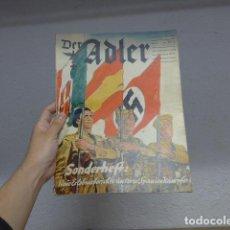 Militaria: ANTIGUA REVISTA DER ADLER DEDICADO A LEGION CONDOR Y GUERRA CIVIL, ORIGINAL ALEMANA. 1939. Lote 258056995
