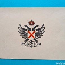 Militaria: GUERRA CIVIL - ESCUDO REQUETE - AGUILA CARLISTA - TARJETA DE CARTULINA - 14,8 X 10,2 CM. Lote 258968900