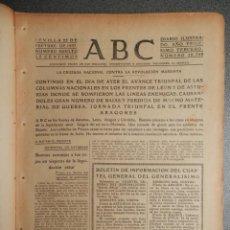 Militaria: PERIÓDICO GUERRA CIVIL ABC 25/09/1937 BATALLA BRUNETE, CONQUISTAS FRENTE DE ÁVILA -NAVAS DEL MARQUÉS. Lote 261296930