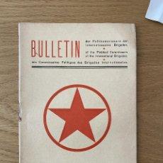 Militaria: BOLETIN BRIGADAS INTERNACIONALES 1937 EDICION ALEMANA. POLITKOMMISSARE DER INTERNATIONALEN BRIGADEN. Lote 262394610