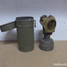 Militaria: ANTIGUA MASCARA DE GAS ALEMANA ORIGINAL DE GUERRA CIVIL, BOTE MARCADO 1937, ANTIGAS.. Lote 262637040