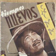 Militaria: REVISTA TIEMPOS NUEVOS 9-10, 1937. GUERRA CIVIL, ANARQUISMO.. Lote 263159875
