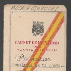 Militaria: ALCALA GANZULES--CADIZ-- CARNET AGENTE COMERCIAL- VER FOTO. Lote 263180025