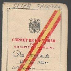 Militaria: VEJER FRONTERA--CADIZ-- CARNET AGENTE COMERCIAL- VER FOTO. Lote 263180835