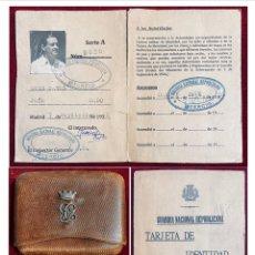 Militaria: GUERRA CIVIL ESPAÑOLA, MUY RARO CARNET DE LA GUARDIA NACIONAL REPUBLICANA Y TABAQUERA.. Lote 266600353