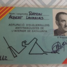 Militaria: CARNET DE UN EX GUERRILLERO ANTIFRANQUISTA EN CATALUNYA.. Lote 267553529