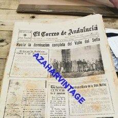 Militaria: EL CORREO DE ANDALUCIA, GUERRA CIVIL, 30-09-1937,FRENTE DE ASTURIAS, CASTELLON, ETC. Lote 267706519