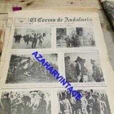 Militaria: EL CORREO DE ANDALUCIA, GUERRA CIVIL, 24-10-1936,OLIAS DEL REY, NAVALCARNERO,VILLAMANTA, ETC. Lote 267877679