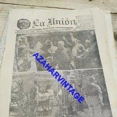 Militaria: DIARIO LA UNION. SEVILLA. 27 JULIO 1936. Nº 6795, OCUPACION DE UTRERA, ASEDIO DE MADRID,ETC. Lote 267879764