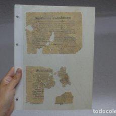 Militaria: ANTIGUO 2 PASQUIN ORIGINAL REPUBLICANO TIRADOS DESDE AVION A TROPA, PSU Y P. COMUNISTA CATALUNYA.. Lote 268585564