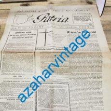 Militaria: GUERRA CIVIL, DIARIO PATRIA, HUESCA, 13.04.1937, PARTE DE GUERRA, FRENTE DE CORDOBA, ETC..4 PAGINAS. Lote 269362593