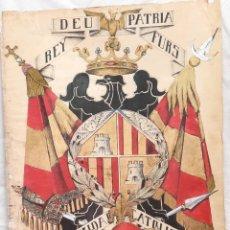Militaria: CARTEL O PÓSTER CARLISTA DE MALLORCA FIRMADO E.GALINDO 1932. Lote 270401418