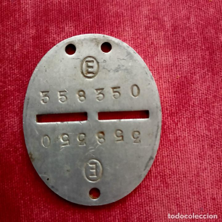 CHAPA PLACA IDENTIFICACIÓN GUERRA CIVIL BANDO NACIONAL 358350 ALUMINIO+ FUNDA (Militar - Guerra Civil Española)