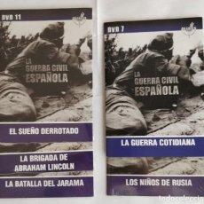 Militaria: DVD LA GUERRA CIVIL ESPAÑOLA - LOTE 5 DVD - GRANDES DOCUMENTALES. Lote 273171048