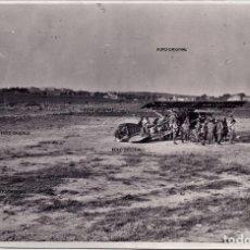 Militaria: AERODROMO LA ALBERICIA SANTANDER CTV ITALIANOS AVION GL 32 REPUBLICANO GUERRA CIVIL 1937. Lote 274428083