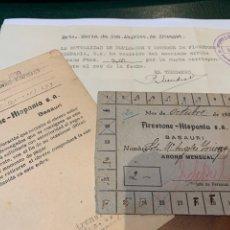 Militaria: MONEDA NECESIDAD - COOPERATIVA FIRESTONE-HISPANIA, BASAURI - GUERRA CIVIL -. Lote 276188483