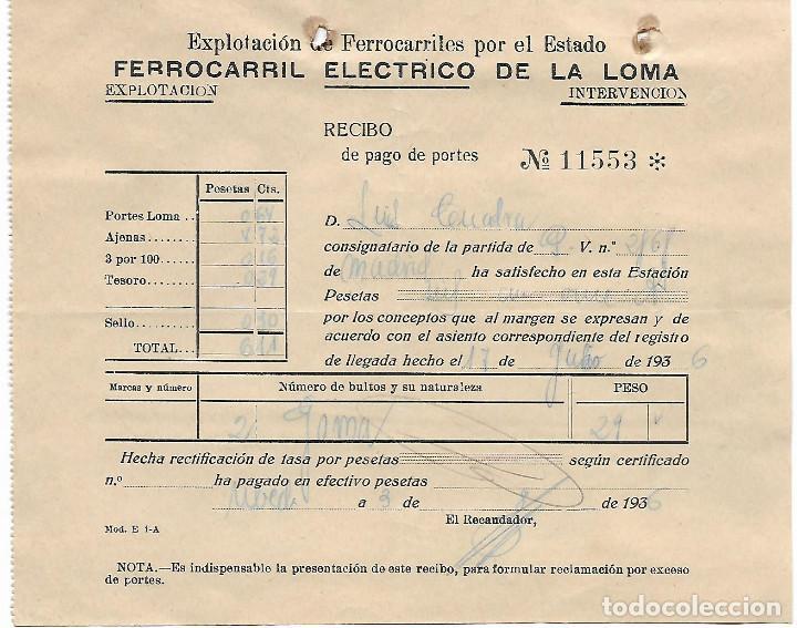 UBEDA, FERROCARRIL ELECTRICO DE LA LOMA-EXPLOTACION FERROCARRILES POR EL ESTADO,- VER FOTO (Militar - Guerra Civil Española)