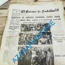Militaria: EL CORREO DE ANDALUCIA,GUERRA CIVIL,07-10-1937, CORDAL DE LA TOJERA, CORDOBA,CIUDAD REAL. Lote 278346648
