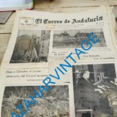 Militaria: EL CORREO DE ANDALUCIA,GUERRA CIVIL,17-04-1937, ARACENA, MARBELLA, FRENTE DE BILBAO, MADRID. Lote 278347178