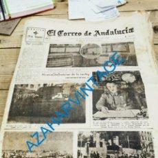 Militaria: EL CORREO DE ANDALUCIA,GUERRA CIVIL,18-04-1937, ALMONTE, ALMUÑECAR, CORDOBA, BILBAO, ETC.... Lote 278348468