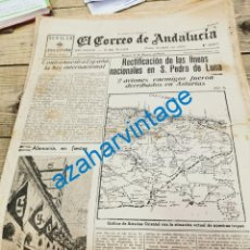 Militaria: EL CORREO DE ANDALUCIA, GUERRA CIVIL, 10-09-1937,POLA DE GORDON, LLANES, ROCIO DE TRIANA EN BILBAO. Lote 279524688